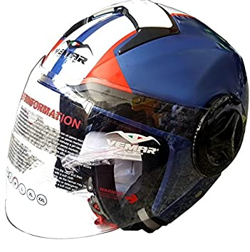 Vemar Casco Jet Breeze Sparking M blanco/azul/rojo