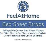 4 PCS Elastic Adjustable Bed Sheet Holders