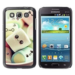 TopCaseStore / la caja del caucho duro de la cubierta de protección de la piel - Marshmallow Sweets - Samsung Galaxy Win I8550 I8552 Grand Quattro