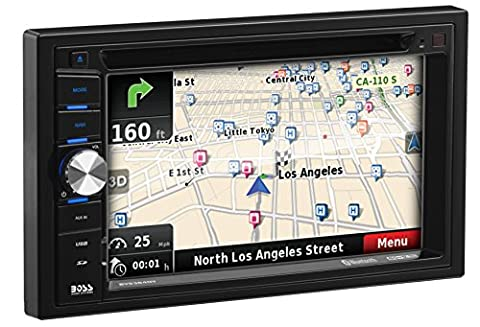 BOSS Audio BV9384NV Double Din, Touchscreen, Bluetooth, Navigation/GPS, DVD/CD/MP3/USB/SD AM/FM Car Stereo, 6.2 Inch Digital LCD Monitor, Wireless (Radio For Kia Forte)