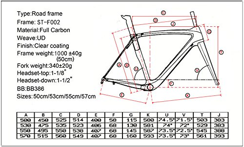 2018 Full Carbon Road Bike Frame Racing Road Bicycle Carbon Frameset with Fork+Headset+Seatpost+BB386