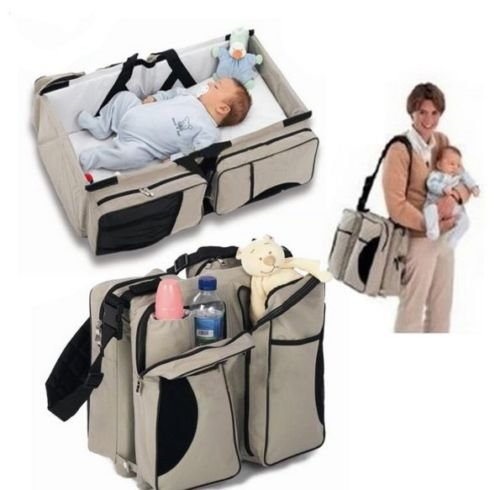 Portable Nursery Bed Baby Stroller Crib Bassinet Infant Travel Diaper Bag