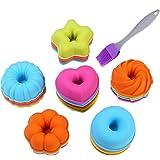 KeepingcooX Moldes de donuts individuales