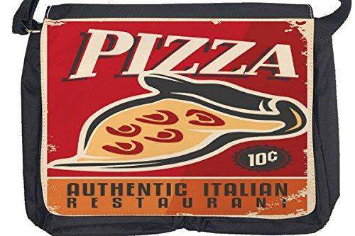 Borsa Tracolla Nostalgico Divertimento Pizza Stampato