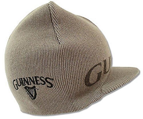 (Guinness Beer clover Brown/tan Reversible Billed Brim Beanie)