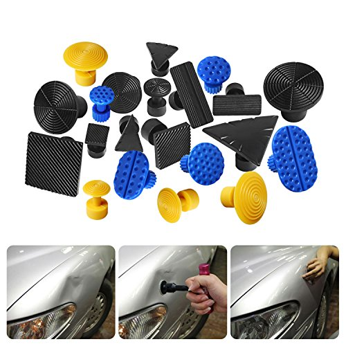 Fly5D 43pcs Paintless PDR Kit DIY Car Dent Repair Tool Dent Removal Puller Set with Tool Bag Pops a Dent Glue Pulling Tool by Fly5D (Image #7)