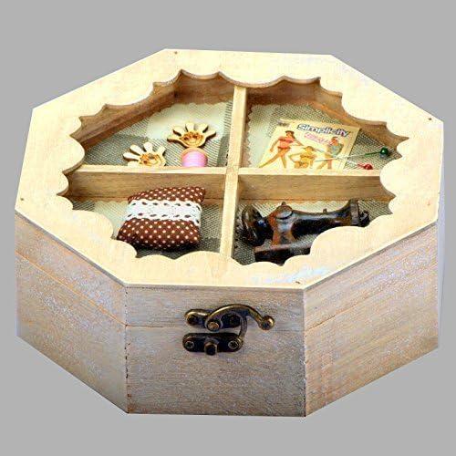 Only clic @ polígono costura de costura caja costurero de madera ...