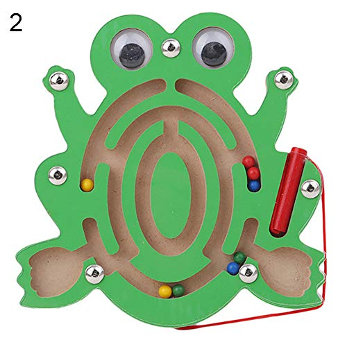 CHoppyWAVE Toys for Boys Girl Toddler Magnetic Maze Toy Kids Wooden Puzzle Game Brain Teaser Intellectual Jigsaw Board - ()
