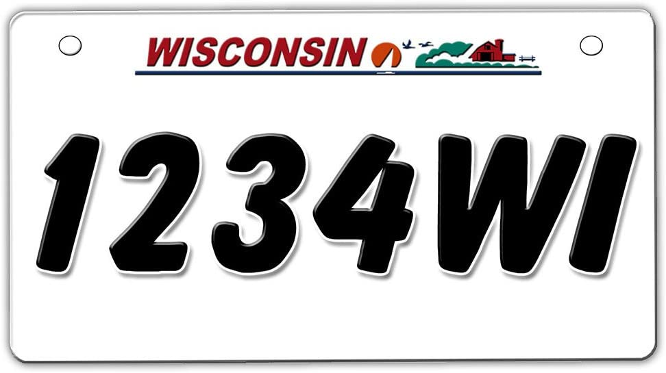 Click to see Video on Ad! Ships Today Wisconsin Metal UTV//ATV license Plates
