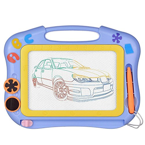 SLHFPX Doodle Board Gift for 1-5 Year Old Boy, Sketching Pad Boys Toys Age 2-5 Birthday Present for 1-3 Year Old Girl Toy 2-5 Year Old Girl-Boy Small Travel Toys for Kids Magna Doodle