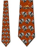 Thanksgiving Ties Mens Turkey Dinner Orange Necktie by Three Rooker