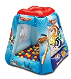 Disney Planes Let's Soar Ball Pit, 1 Inflatable & 20 Sof-Flex Balls, Red, 37'' W x 37'' D x 34'' H