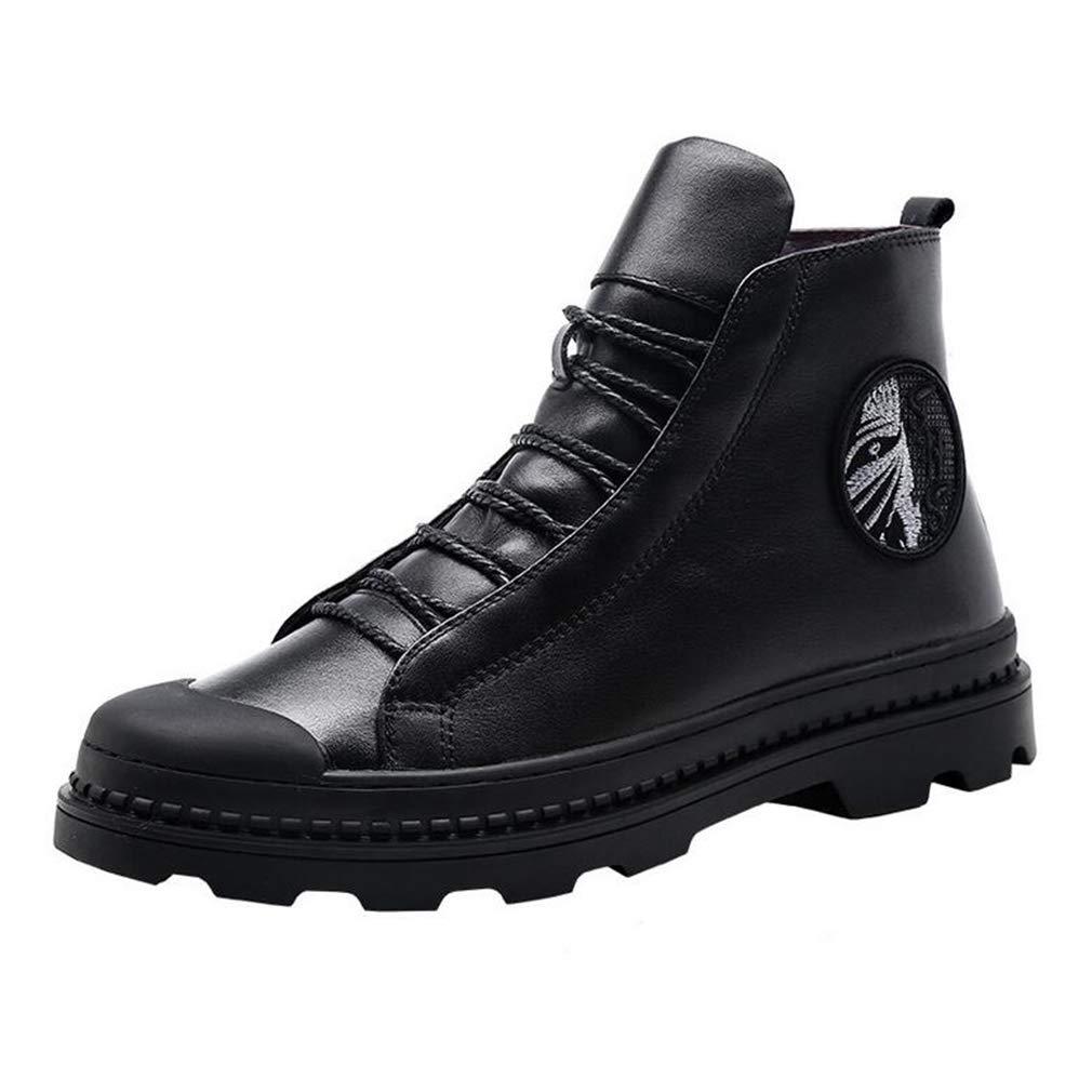 Hy Hy Hy Herrenschuhe, Leder Herbst Winter Student Casual Turnschuhe, Laufschuhe Reise-Schuhe (Farbe   Schwarz, Größe   42) 9948fb