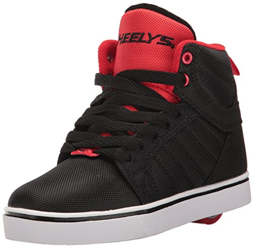 Heelys Boys' Uptown Sneaker, Black/Red Ballistic, 4 M US Big Kid by Heelys