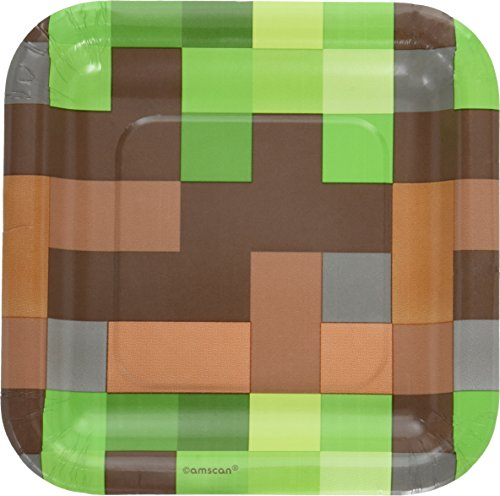 Minecraft 'TNT Party' Small Paper Plates (8ct)