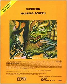 Book Dungeon Masters Screen (Advanced Dungeons & Dragons)