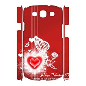 3D Red love the Samsung Galaxy S3 Case White