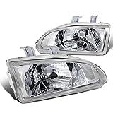 1995 honda civic ex headlights - Spec-D Tuning LH-CV92-APC Honda Civic Ex Dx Lx Chrome Clear Headlights