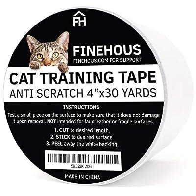 """Cat scratching Finehous Cat Anti-Scratch Tape Deterrent 4"""" x 30-Yards –... [tag]"""