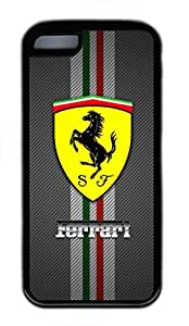 iPhone 5C Case, iPhone 5C Cases - Black Soft Rubber Shock-Absorption Bumper Case for iPhone 5C Ferrari Logo Water Resistant Back Case for iPhone 5C by Maris's Diary