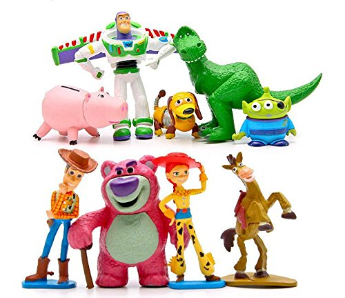 Toy Story Full Collection: Sheriff Woody,Buzz Lightyear,Jessie,Lotso,Hamm,Rex,Slinky Dog,Mr.Potato Head Doll Action Figures Play Set by Wenos