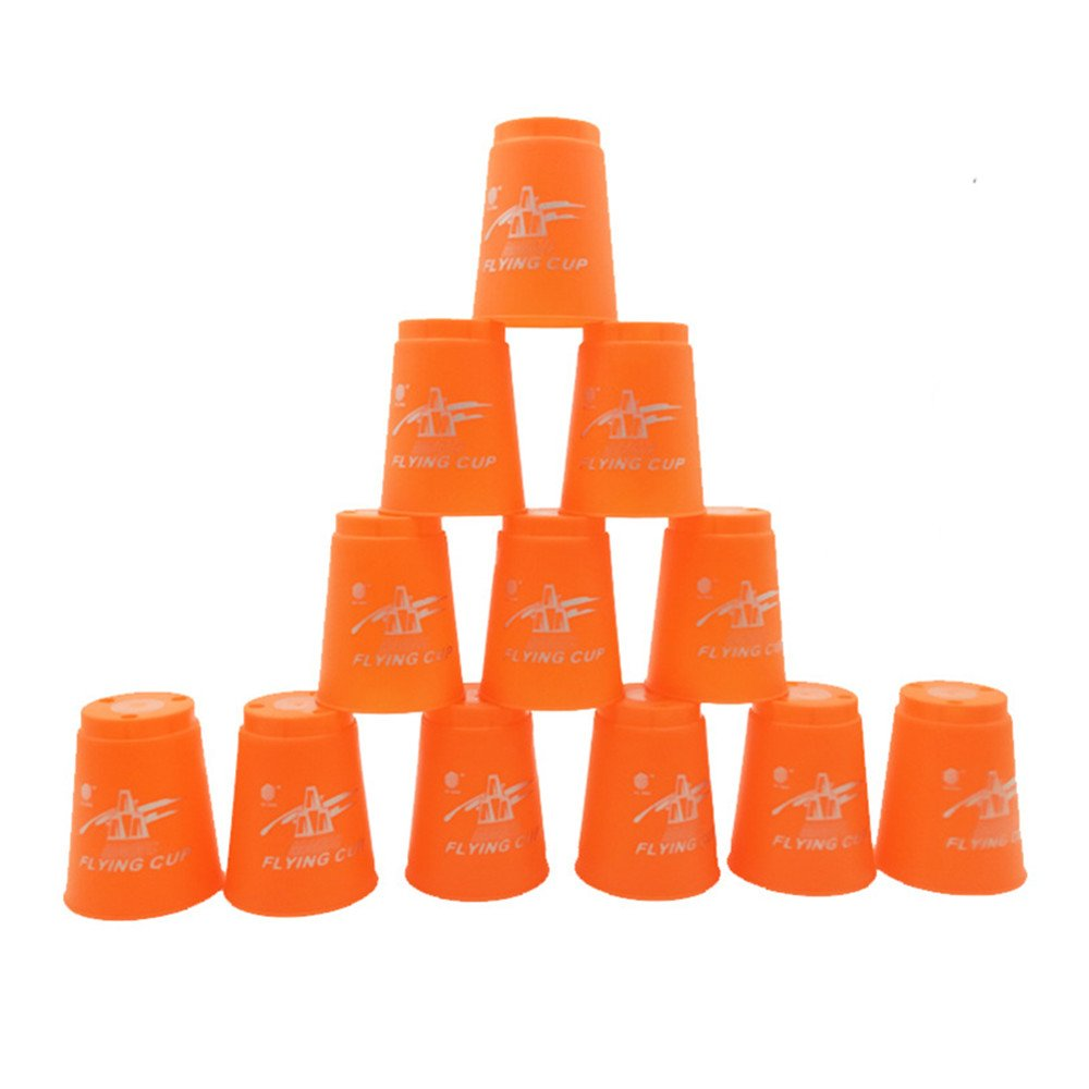 DKY Stacking Cup Set,Quick Stack Cups Set of 12 Sport Stacking Cups - Orange