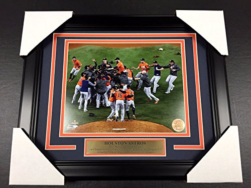 2017 HOUSTON ASTROS WORLD SERIES CHAMPIONS TEAM FRAMED PHOTO #2 8X10 CELEBRATION