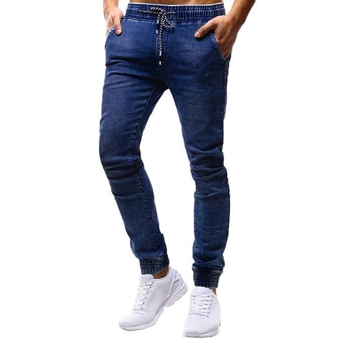 beautyjourney Jeans de Hombre Pantalones Casuales de ...