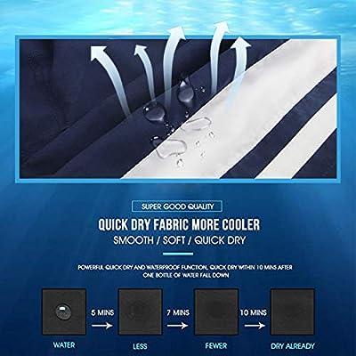 QRANSS Men's Quick Dry Swim Trunks Bathing Suit Beach Shorts   .com