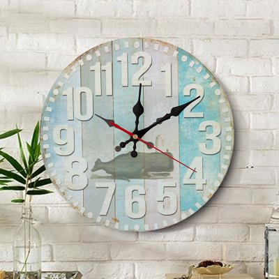 - Y-Hui 12 Inch Clock Clock Household Bedroom Living Room Mute Round The Clock Watch Pendant, Size: 12 Inches,12 Inches,Style 5