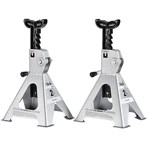 2 Ton High Lift (TONDA 2 TON Steel Jack Stand, 1 Pair (10.7-17 inches Lift Range))