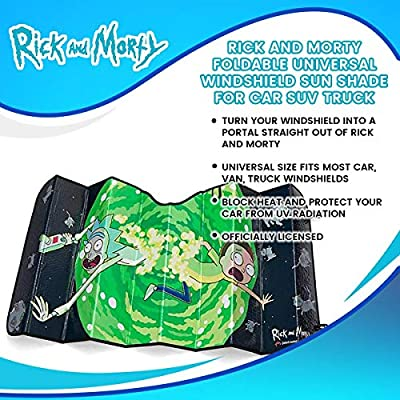 RICK AND MORTY Sunshade Portal Jump Universal Sunshade
