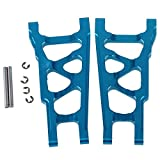 BQLZR Blue SLA007 Aluminum Alloy Front & Rear Suspension Arms Upgrade Parts for TRAXXAS SLASH 4X4 & HQ727 Short Truck RC Car Pack of 2