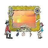Rockin Gear Picture Frame Pirates 8 x 10 Glitter Charm Fun Design Photo Frames Holds a 4'' x 6'' inch Print (Pirates)