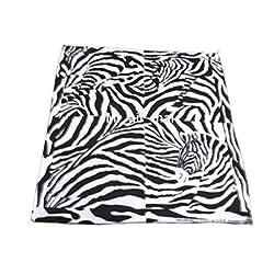 white Cotton Handkerchief Animal Zebra Scarf Bandana Headband Mens Women Lady Lot