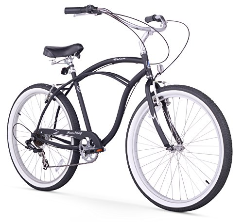 Firmstrong Urban Man Seven Speed Beach Cruiser Bicycle, 26-I