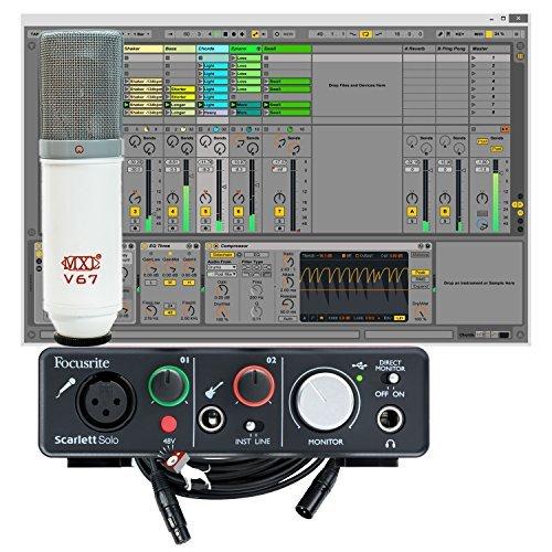focusrite scarlett solo 2nd gen usb audio interface with mxl v67p microphone bundle. Black Bedroom Furniture Sets. Home Design Ideas