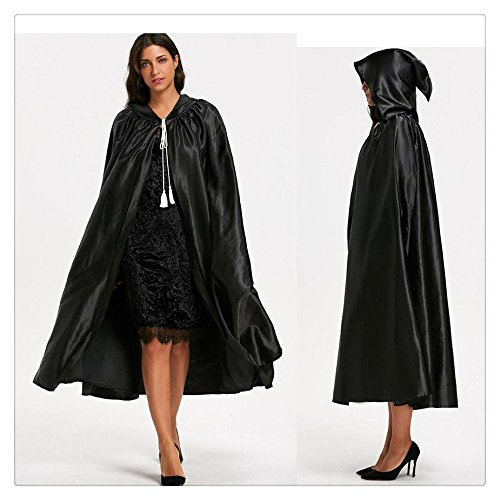 Litetao 2017 Halloween Adult Hooded Unisex Cape Cloak Devil Wicca Robe Bow Outwear (A) ()