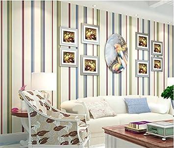 Xzzj Grüne Wand Papier Schlafzimmer Englisch Kinder Zimmer Farbe Vertikal  Gestreifte Normalpapier Tapete Wohnzimmer Hintergrund Wand