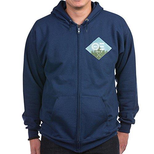 CafePress - Theta Xi Mountain Diamond Blue - Zip Hoodie, Classic Hooded Sweatshirt with Metal Zipper
