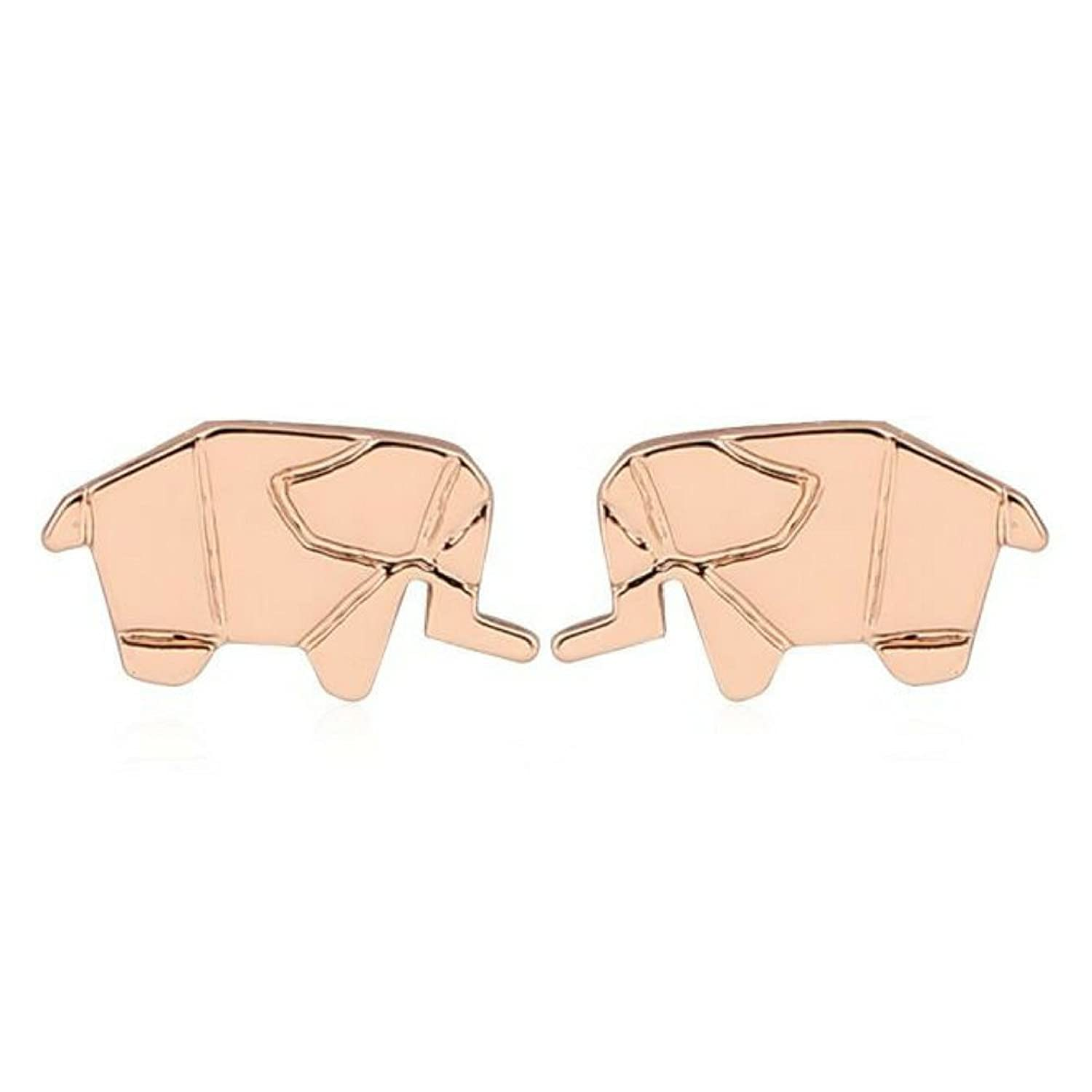 Elephant Stud Earrings: Gift Ready- Packaged in Black Pouch - Boho Chic Accessories