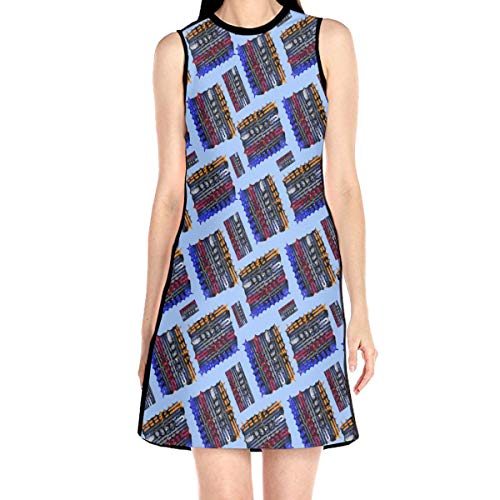 Laur Women¡¯s Sleeveless Scuba Sheath Dress Abstract Grunge Print Casual/Party/Wedding Dress S White