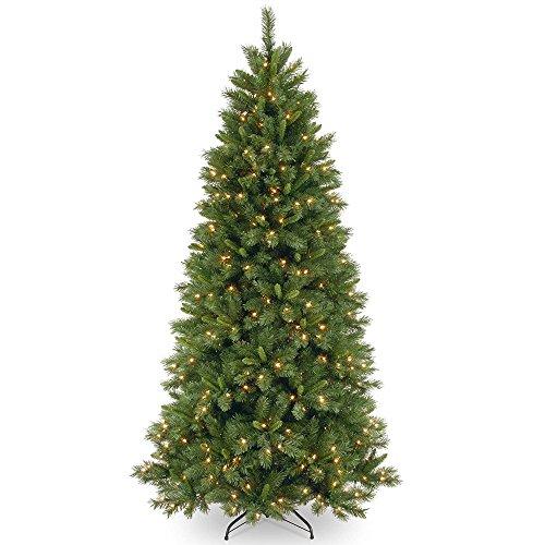 Amazon.com: CC Christmas Decor 7.5 ft. Lehigh Valley Slim Pine Tree ...