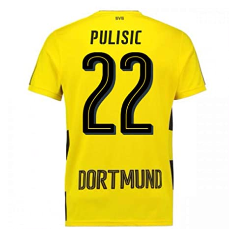 8760a63de17 Image Unavailable. Image not available for. Color: 2017-18 Borussia  Dortmund Home Short Sleeve Football Soccer T-Shirt ...
