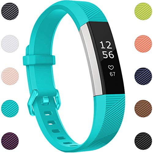 Maledan Compatible with Fitbit Alta Bands, Replacement Band for Fitbit Alta HR/Alta/Ace, Small, Teal