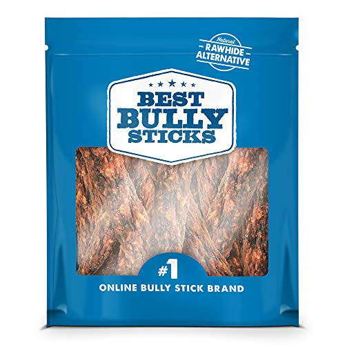 Best Bully Sticks Gourmet Rabbit, Apple, and Kale Superfood Jerky Dog Treats (1lb. Bag) - All-Natural Dog Treats