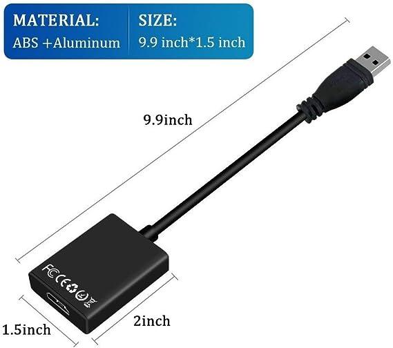Amazon.com: Adaptador USB 3.0 a HDMI, 1080P HD adaptador de ...