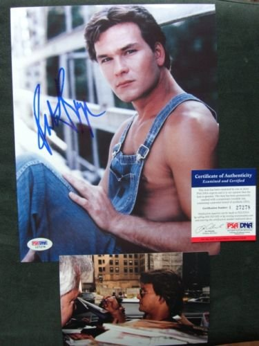 Patrick Swayze Rare! signed Dirty Dancing 8x10 photo PSA/DNA Coa with PROOF!!