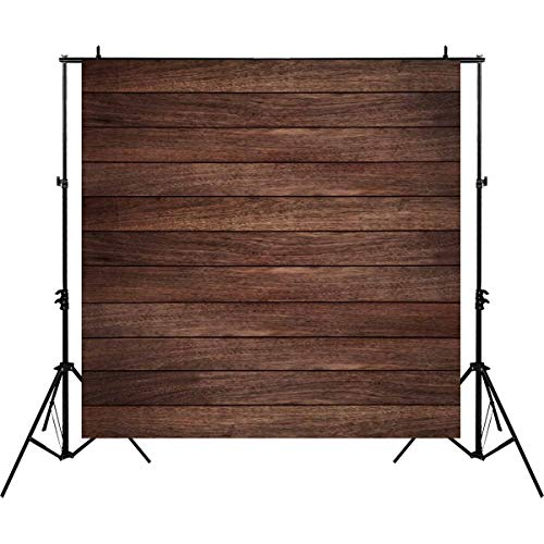 - Allenjoy 8x8ft Vintage Brown Wood Photography Backdrop Retro Wood Floor Plank Newborn Baby Portrait Background Baby Shower 1st Birthday Party Banner Decoration Still Life Product Photo Booth Props