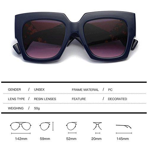 Fashion Gary Frame Gafas Gafas Square De American RPFU Blue Sra Tri Europea Sol Y Color 60n7xv